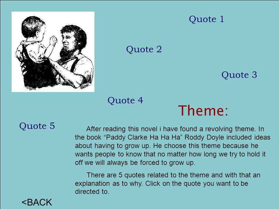 Theme: Quote 1 Quote 2 Quote 3 Quote 4 Quote 5 <BACK