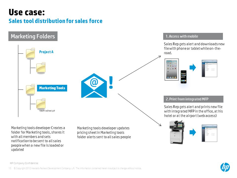 Use case: Sales tool distribution for sales force