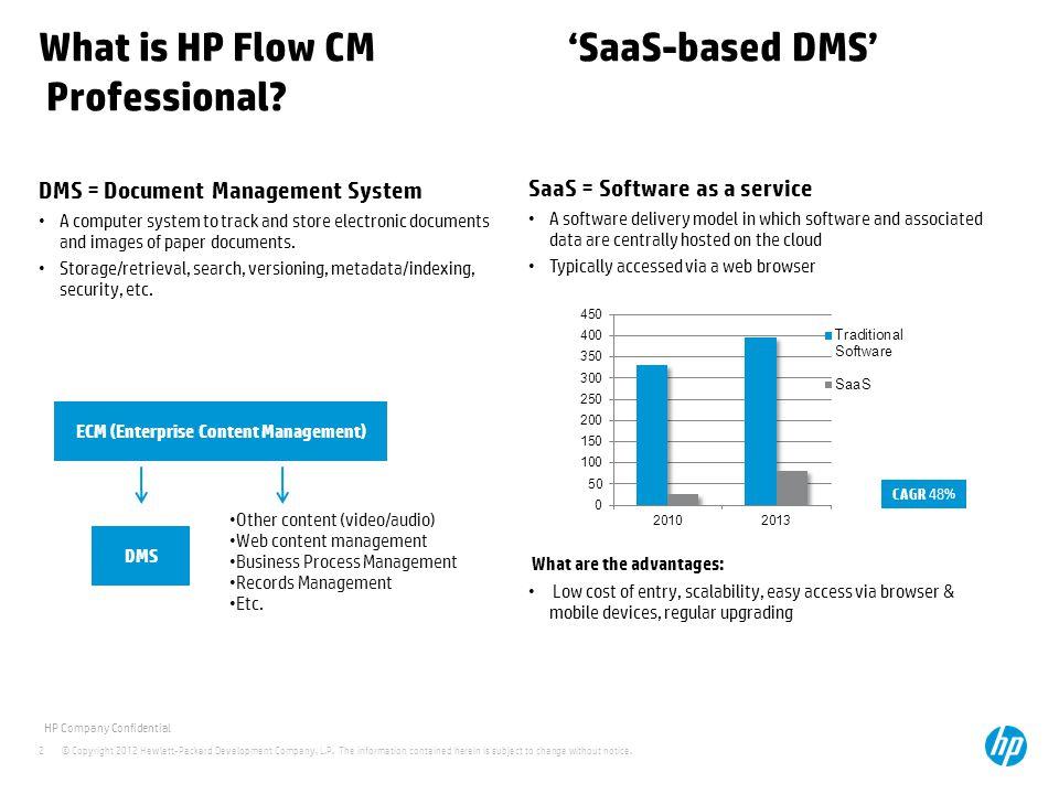 What is HP Flow CM 'SaaS-based DMS' Professional