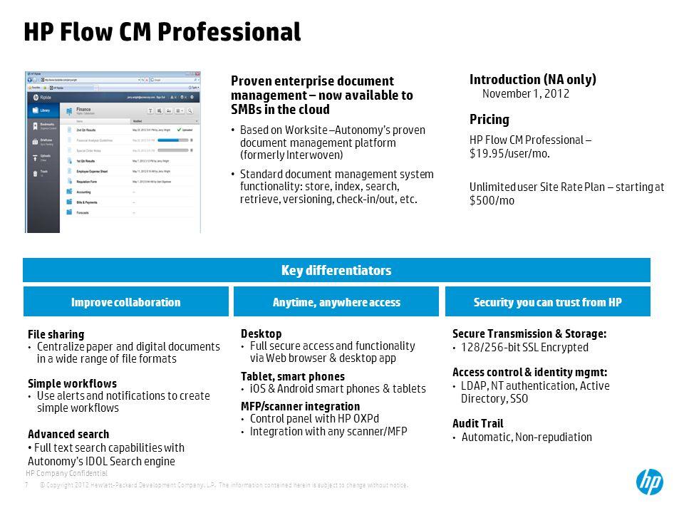 HP Flow CM Professional