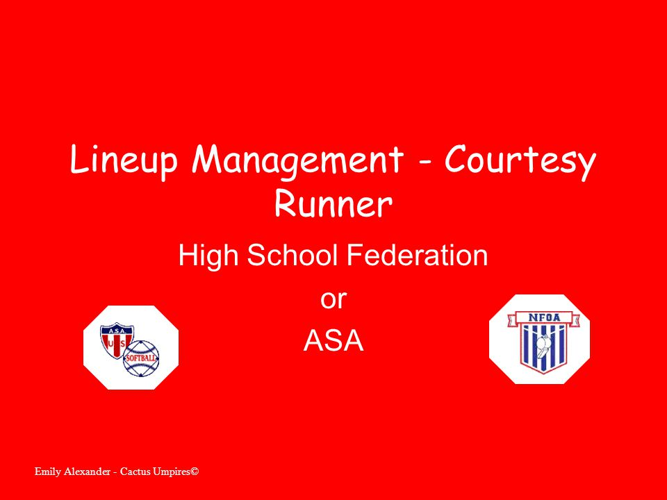 Lineup Management - Courtesy Runner