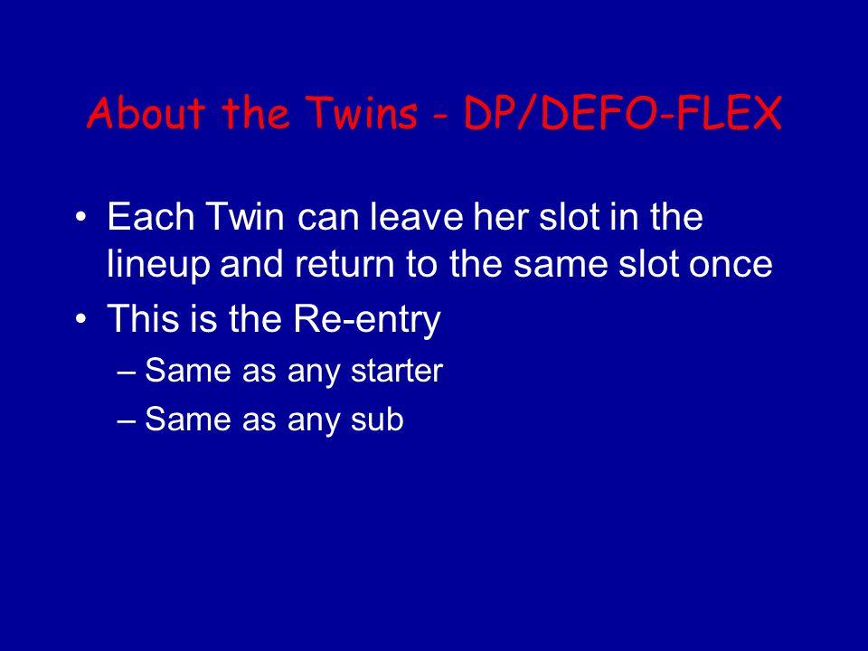 About the Twins - DP/DEFO-FLEX