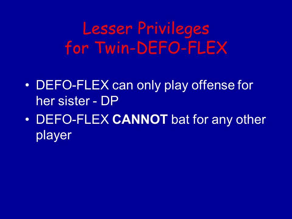 Lesser Privileges for Twin-DEFO-FLEX