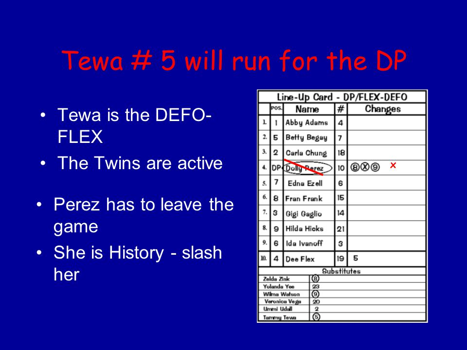 Tewa # 5 will run for the DP