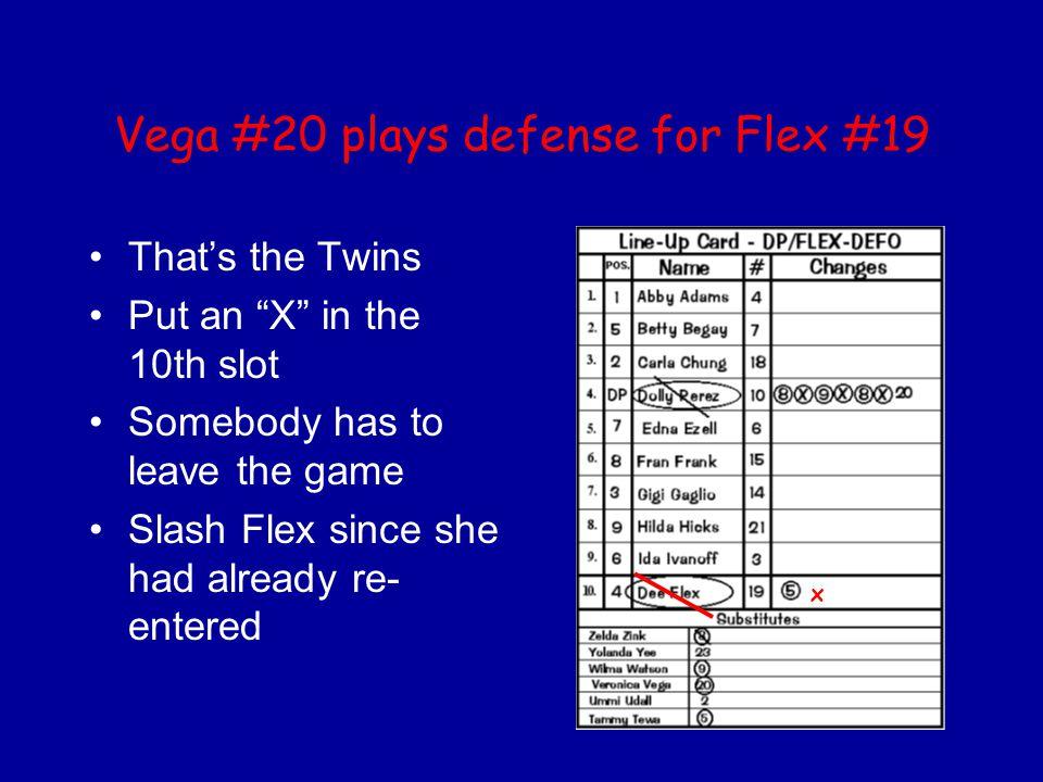 Vega #20 plays defense for Flex #19