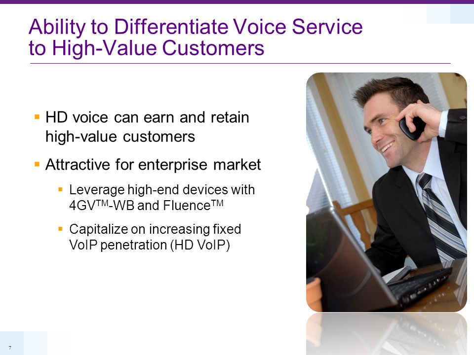 Ability to Differentiate Voice Service to High-Value Customers