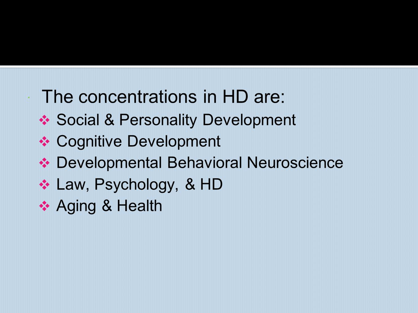 The concentrations in HD are: