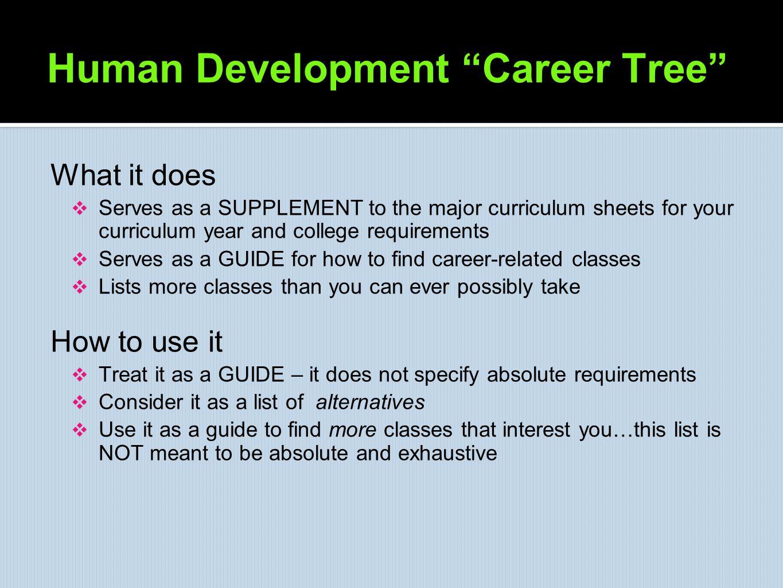Human Development Career Tree