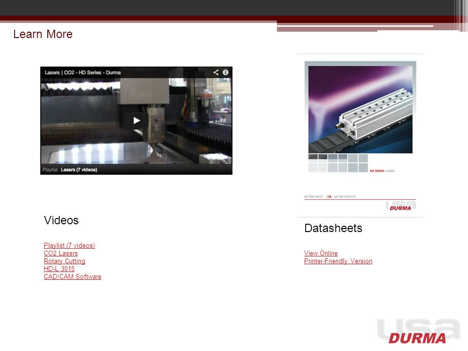 Learn More Videos Datasheets Playlist (7 videos) CO2 Lasers