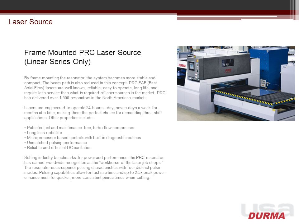 Frame Mounted PRC Laser Source (Linear Series Only)