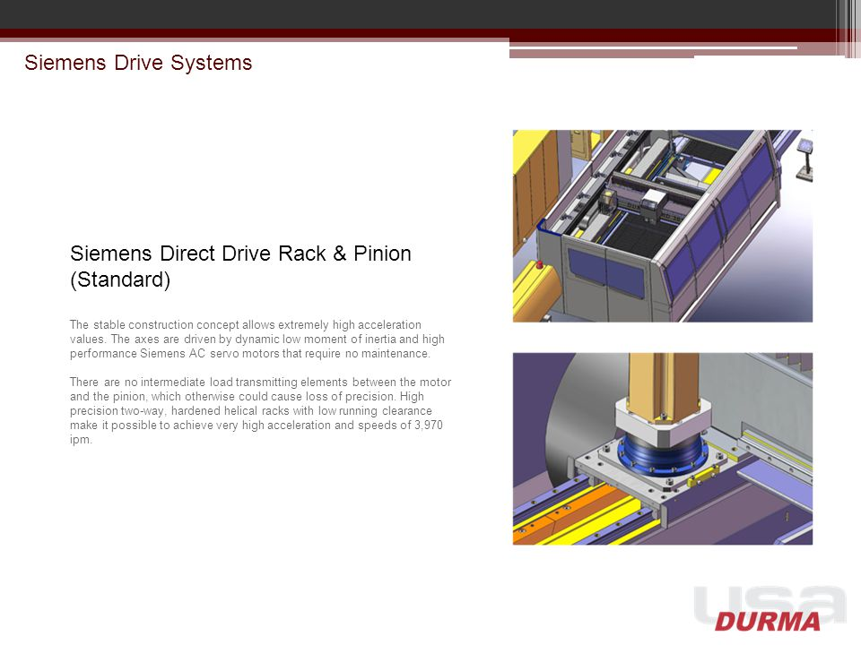 Siemens Direct Drive Rack & Pinion (Standard)