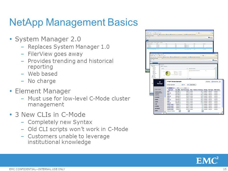 NetApp Management Basics