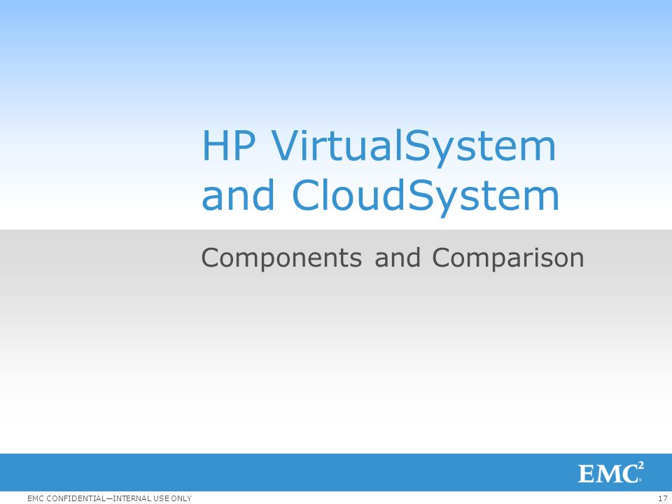 HP VirtualSystem and CloudSystem
