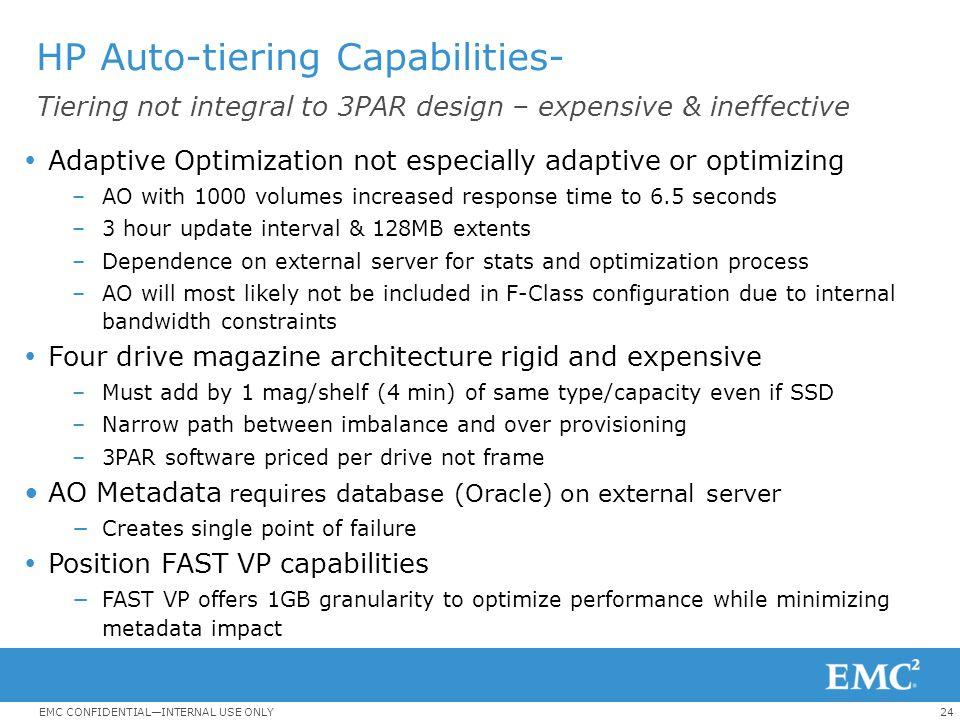 HP Auto-tiering Capabilities-