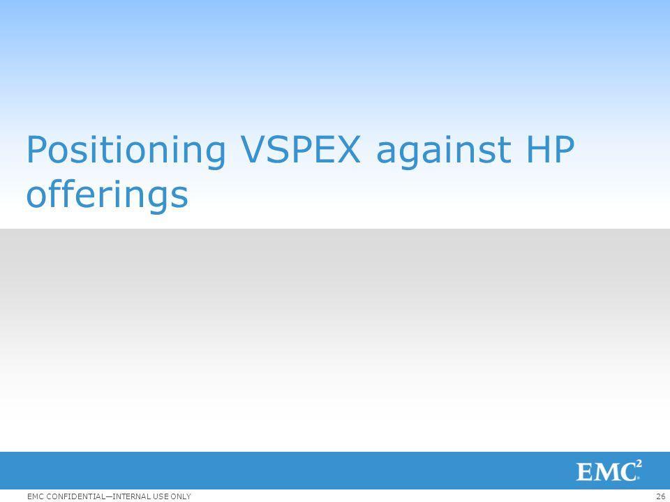 Positioning VSPEX against HP offerings