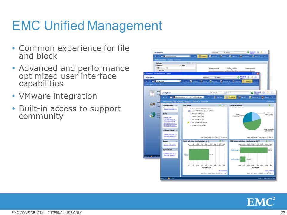EMC Unified Management