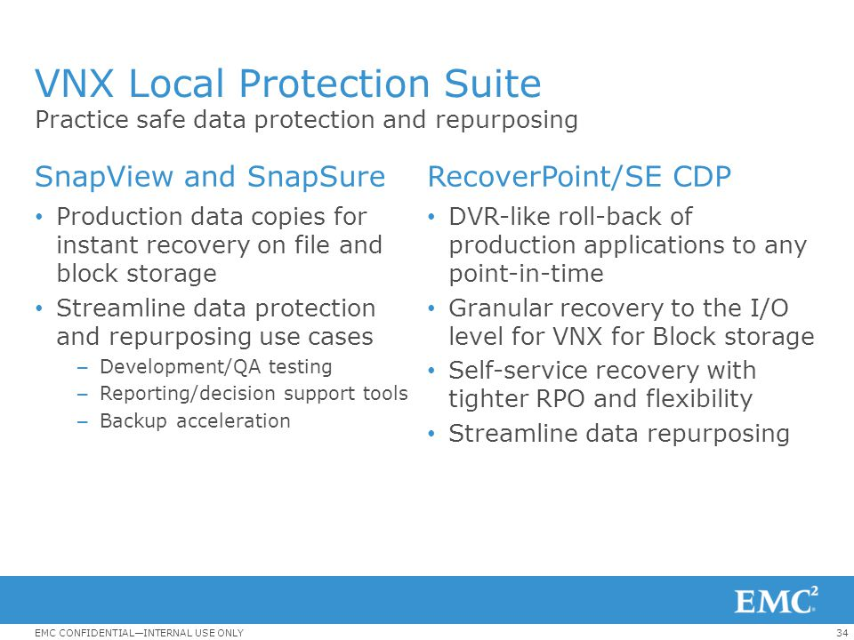 VNX Local Protection Suite