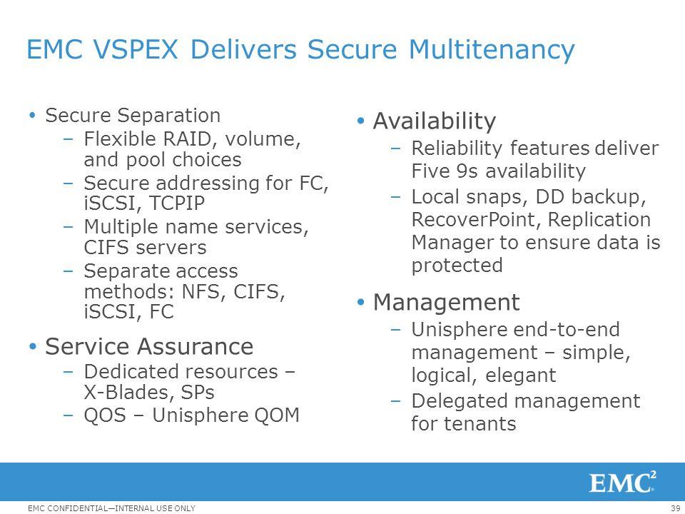 EMC VSPEX Delivers Secure Multitenancy