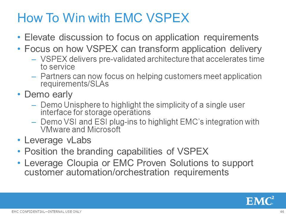 How To Win with EMC VSPEX