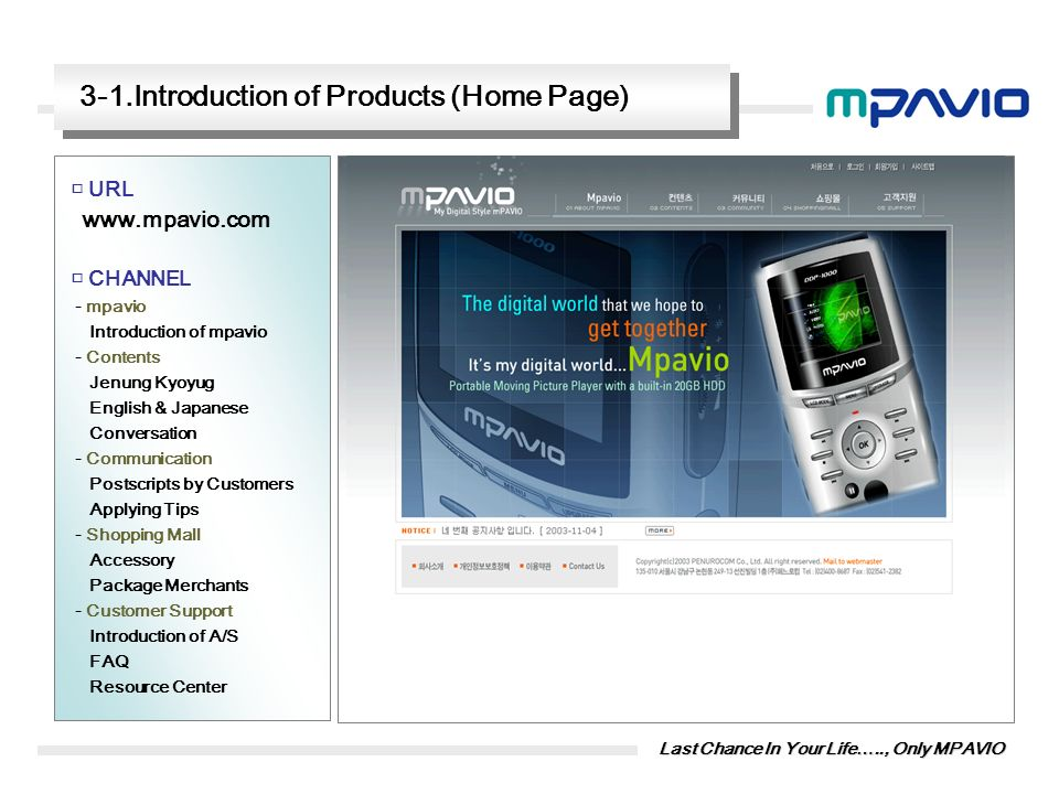 3-1.Introduction of Products (Home Page)