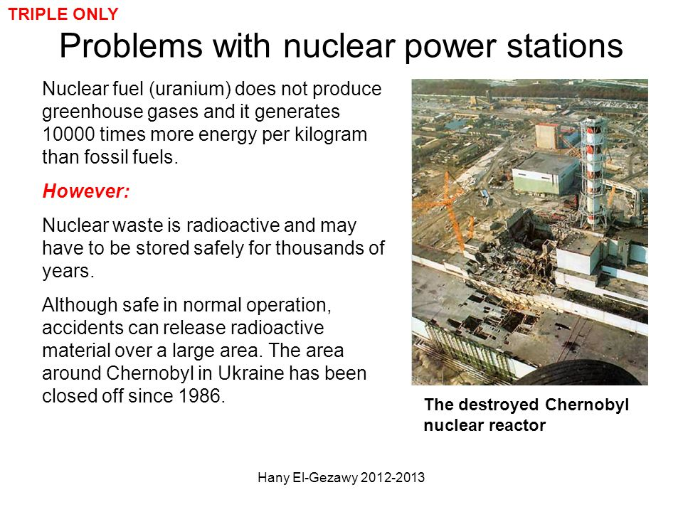 Problems with nuclear power stations