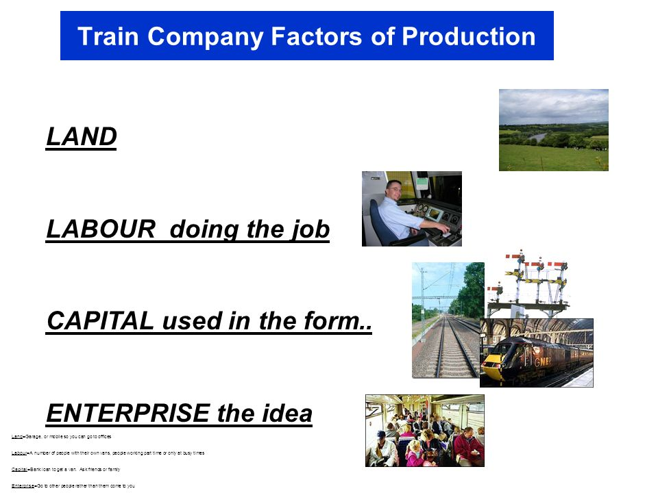 Train Company Factors of Production