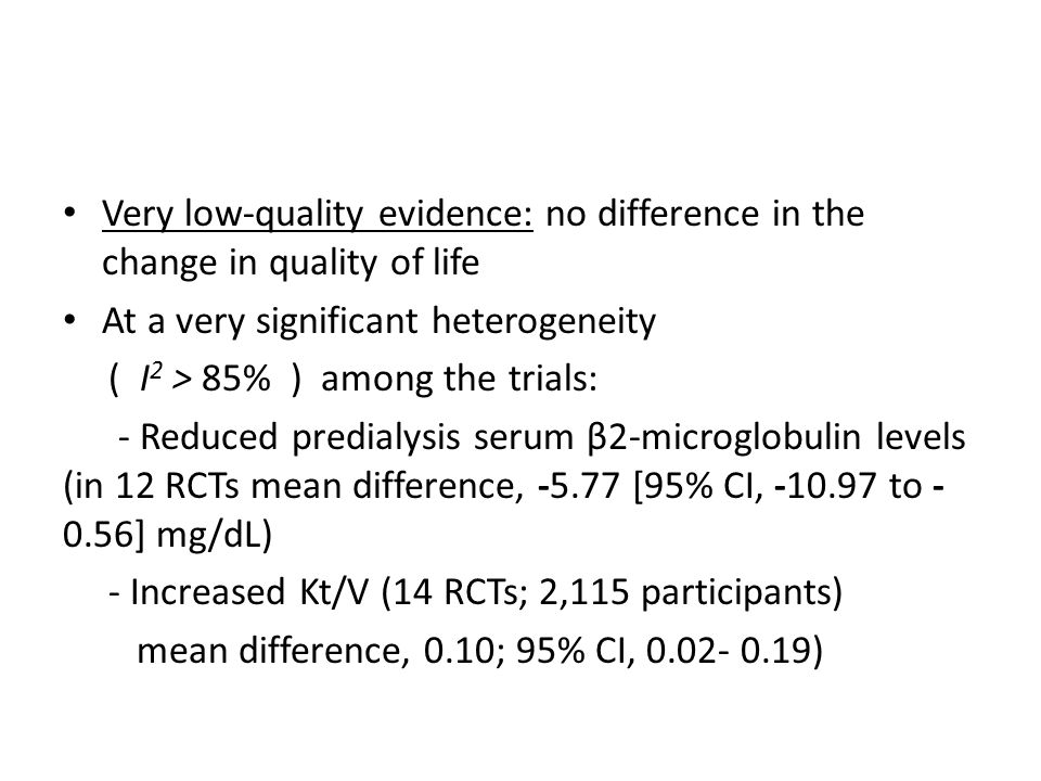 Very low-quality evidence: no difference in the change in quality of life
