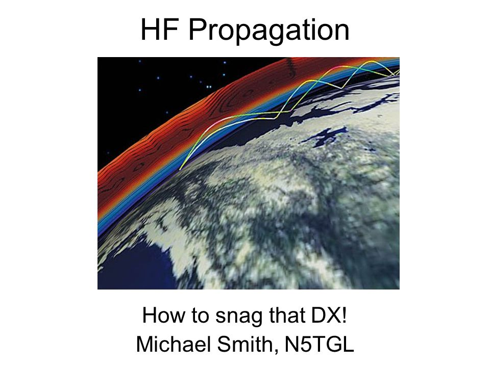 How to snag that DX! Michael Smith, N5TGL
