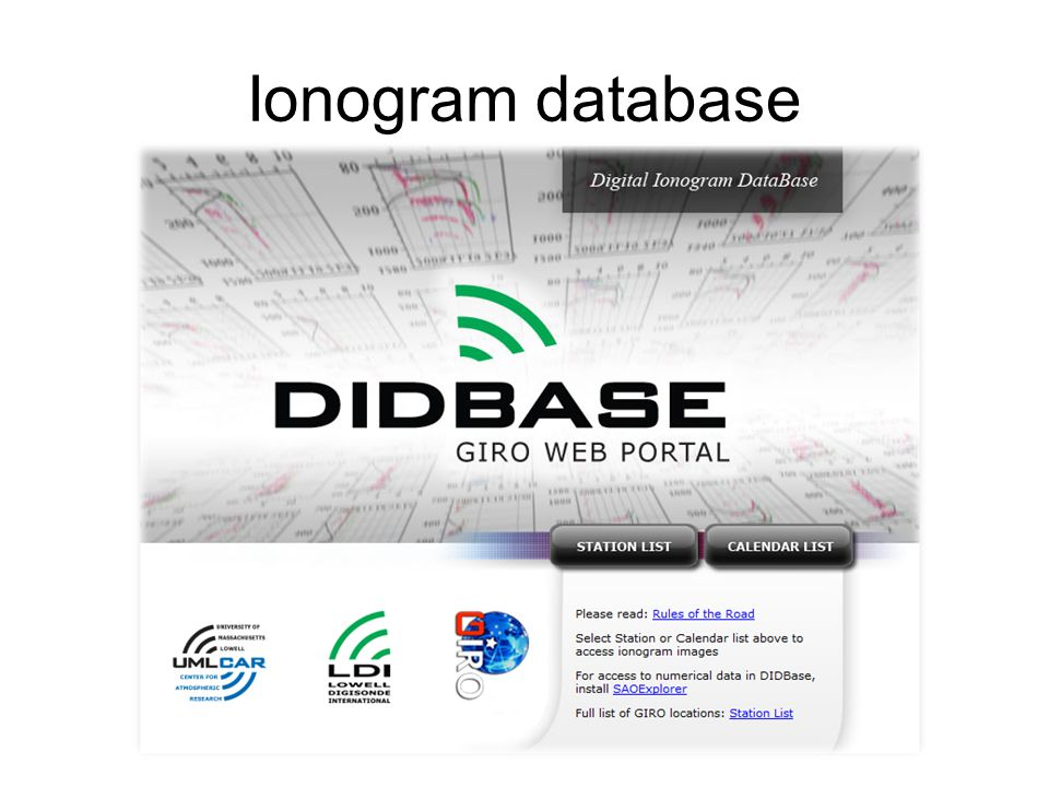 Ionogram database