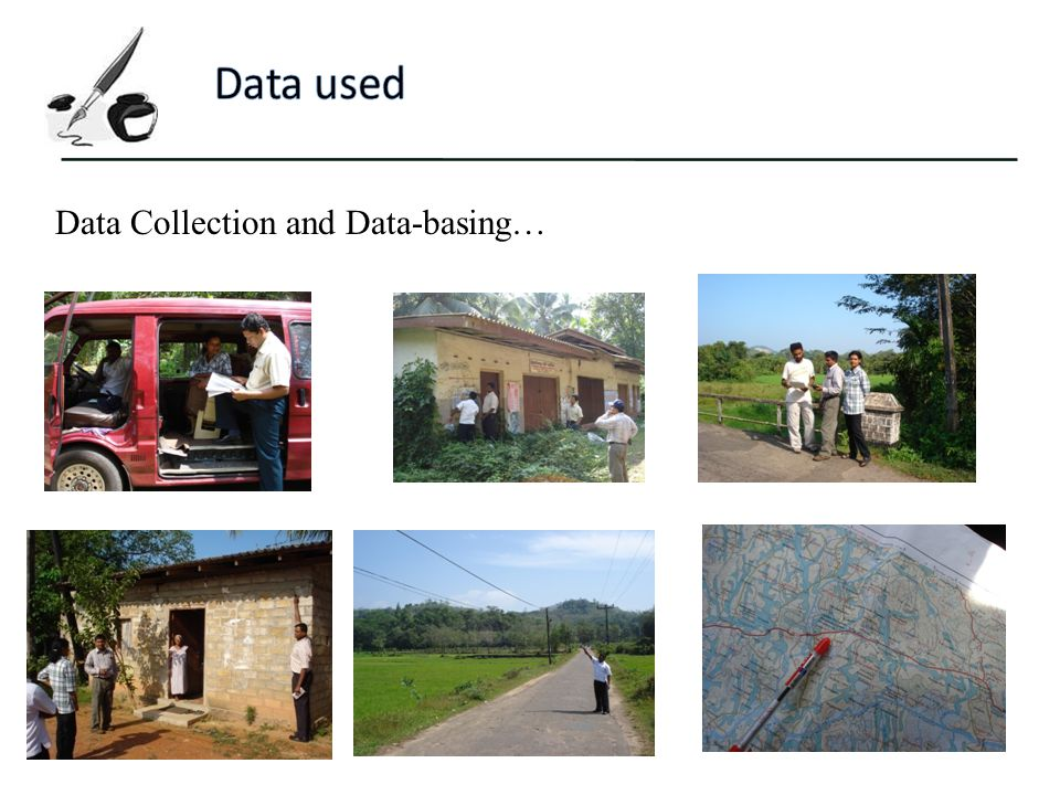 Data used Data Collection and Data-basing…