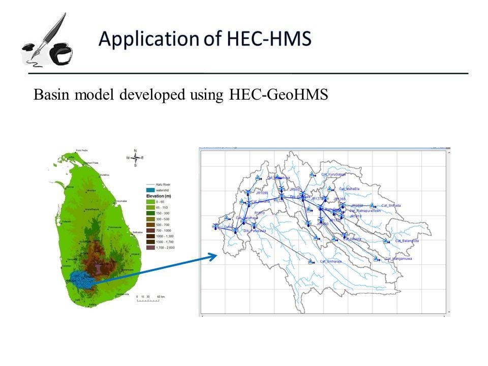 Application of HEC-HMS