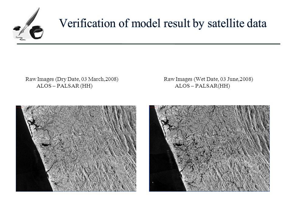Verification of model result by satellite data
