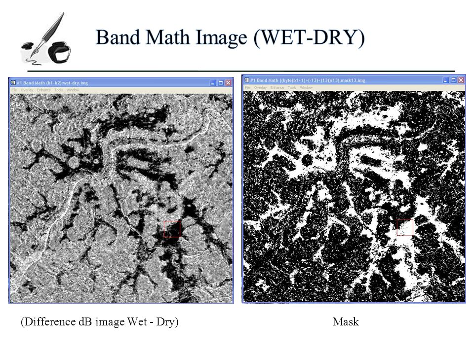 Band Math Image (WET-DRY)