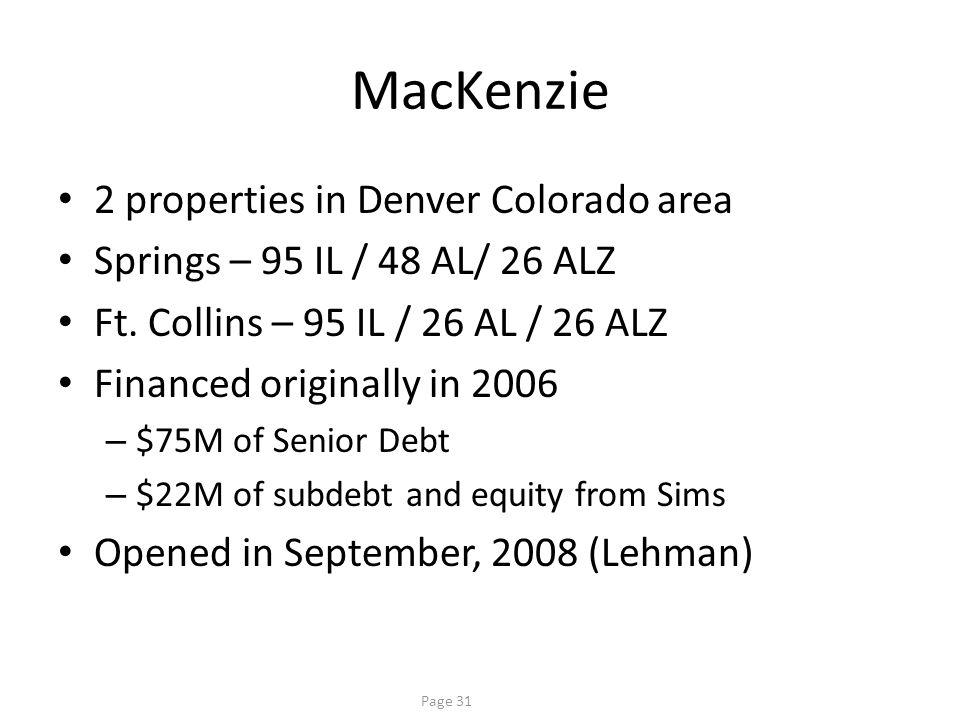 MacKenzie Venture Partner went bankrupt Sims took over