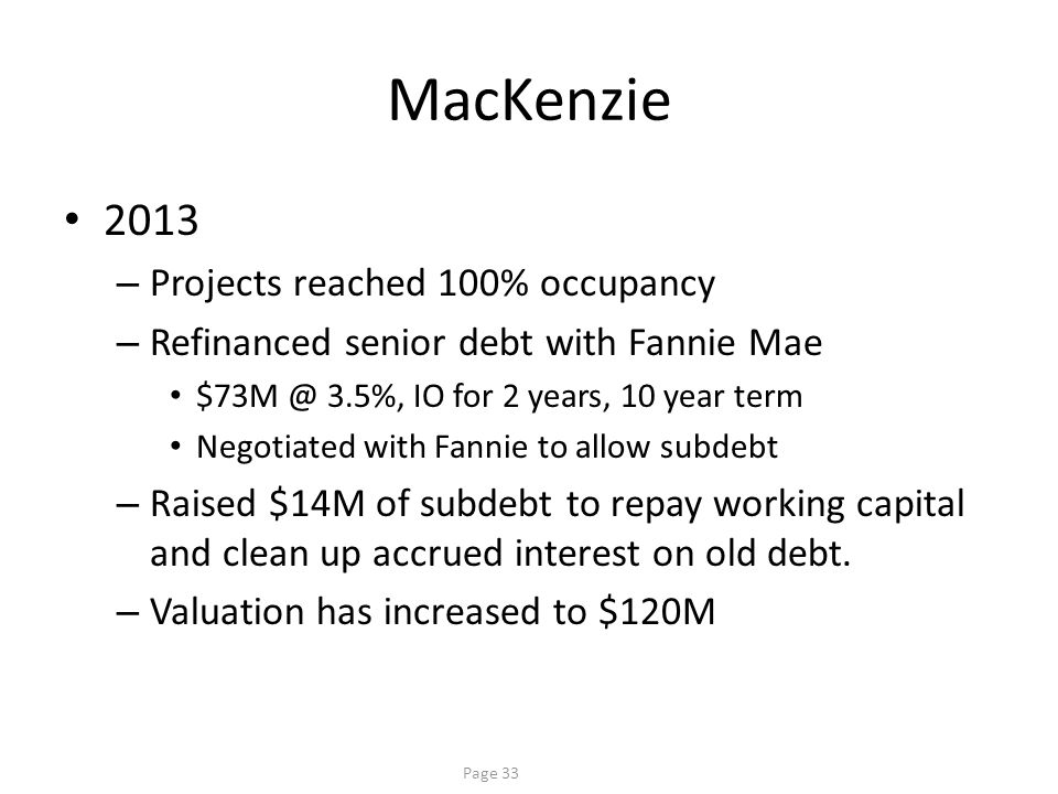 MacKenzie Result Creative capital structure