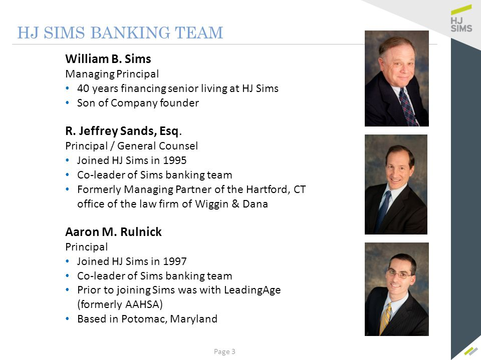 HJ SIMS BANKING TEAM Anthony Luzzi Kerrie J. Tomasiewicz