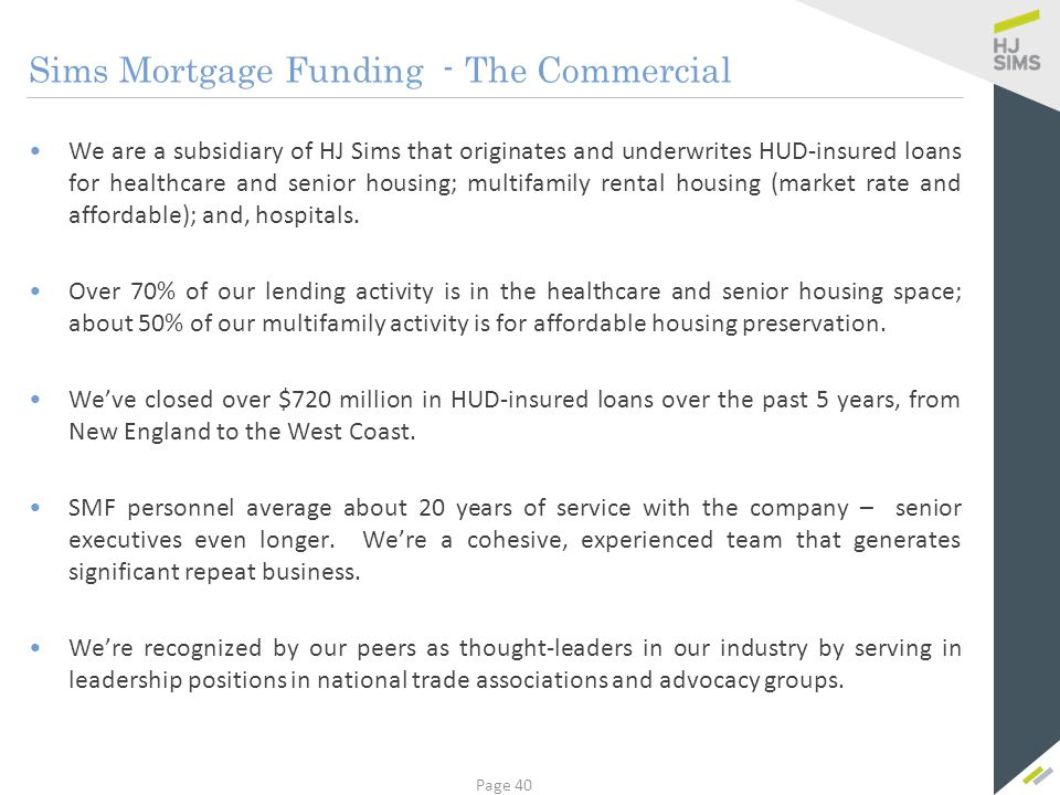 HUD-Insured Financing – The Overview