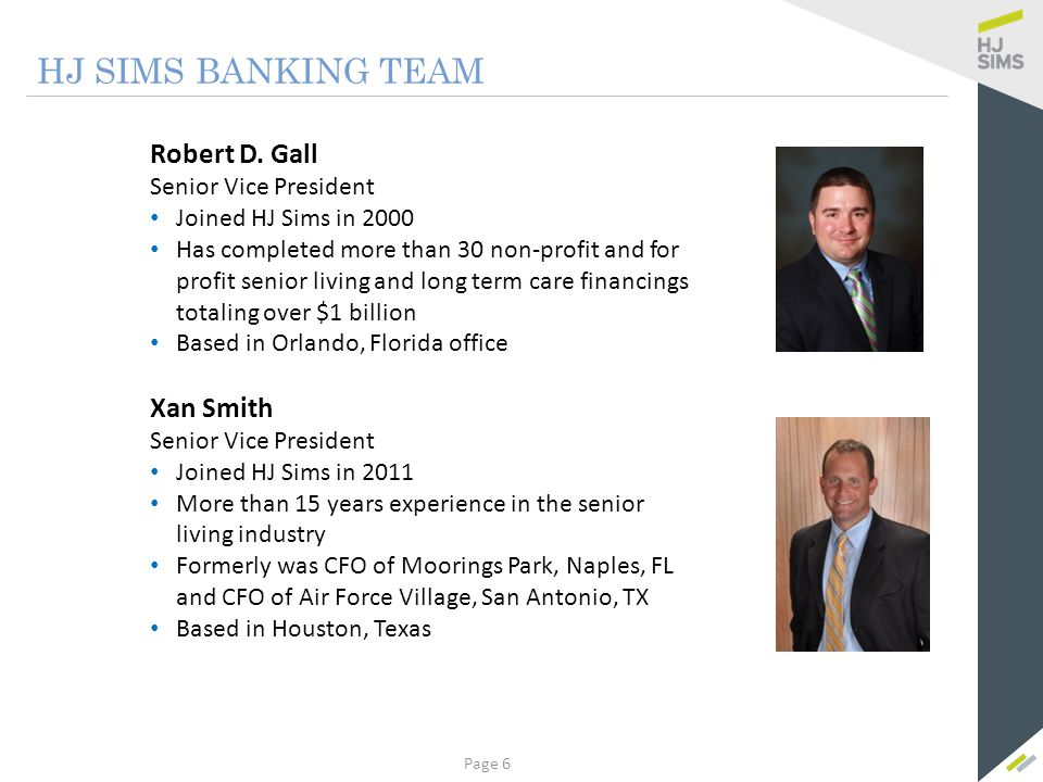 HJ SIMS BANKING TEAM Curtis King Kerry Moynihan Senior Vice President