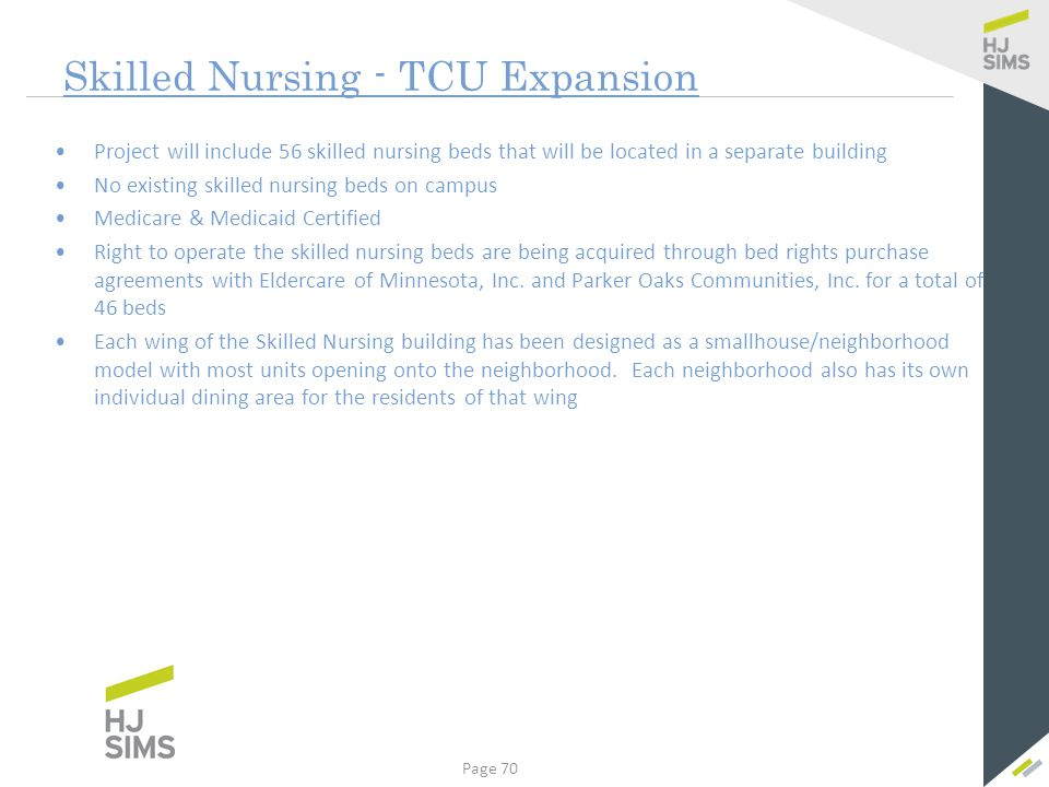 Skilled Nursing Forecasted Payor Mix