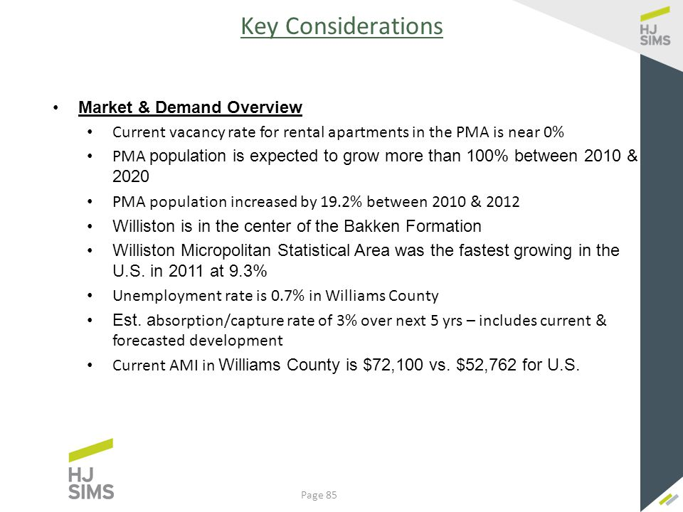Key Considerations - Continued