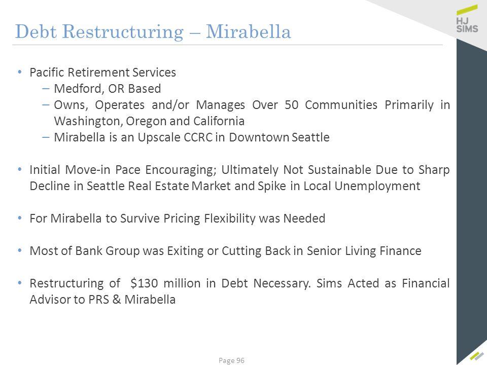 Debt Restructuring – Mirabella
