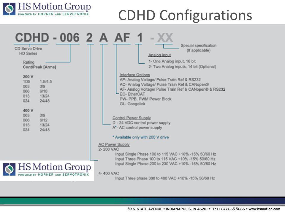 CDHD Configurations