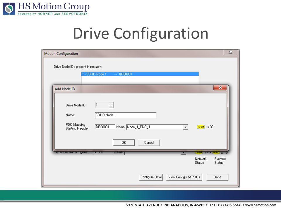 Drive Configuration