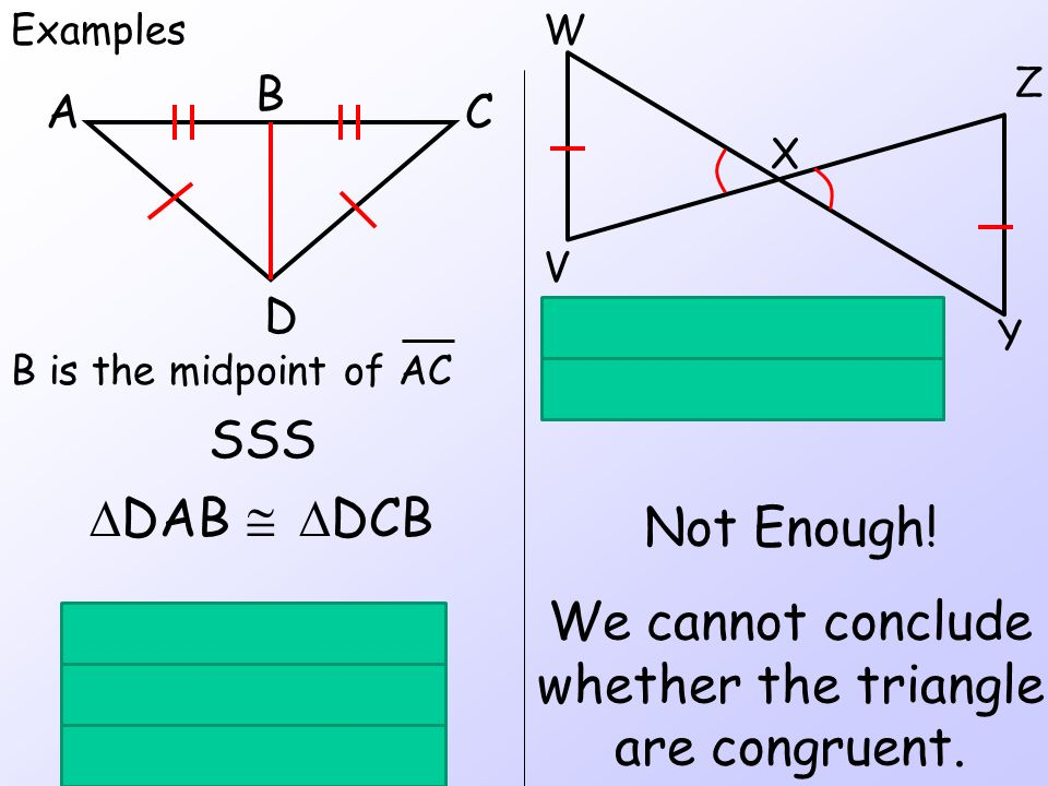 We cannot conclude whether the triangle are congruent.