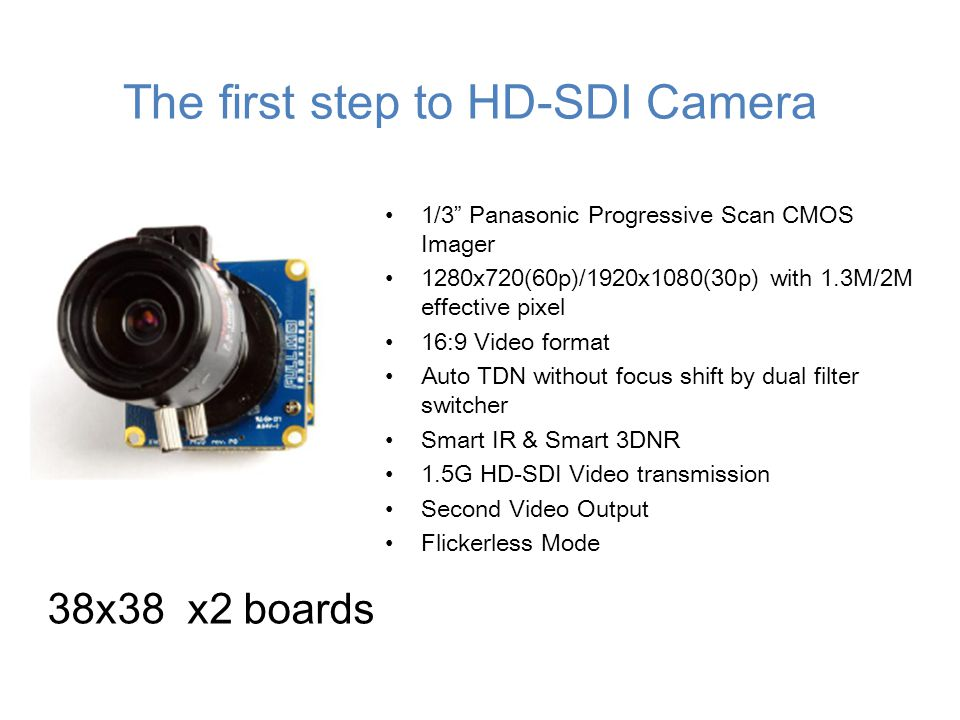 The first step to HD-SDI Camera