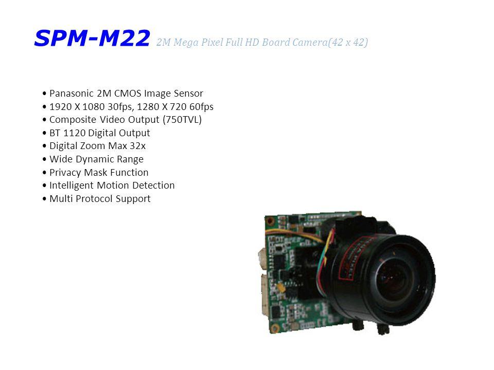 SPM-M22 2M Mega Pixel Full HD Board Camera(42 x 42)