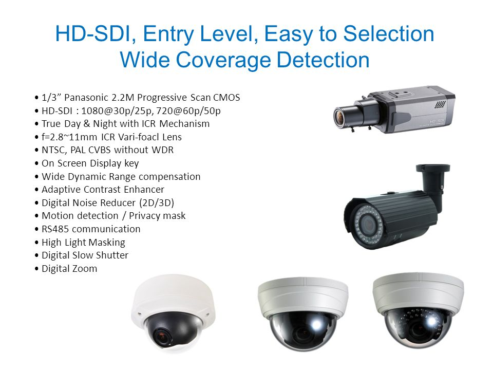 HD-SDI, Entry Level, Easy to Selection Wide Coverage Detection