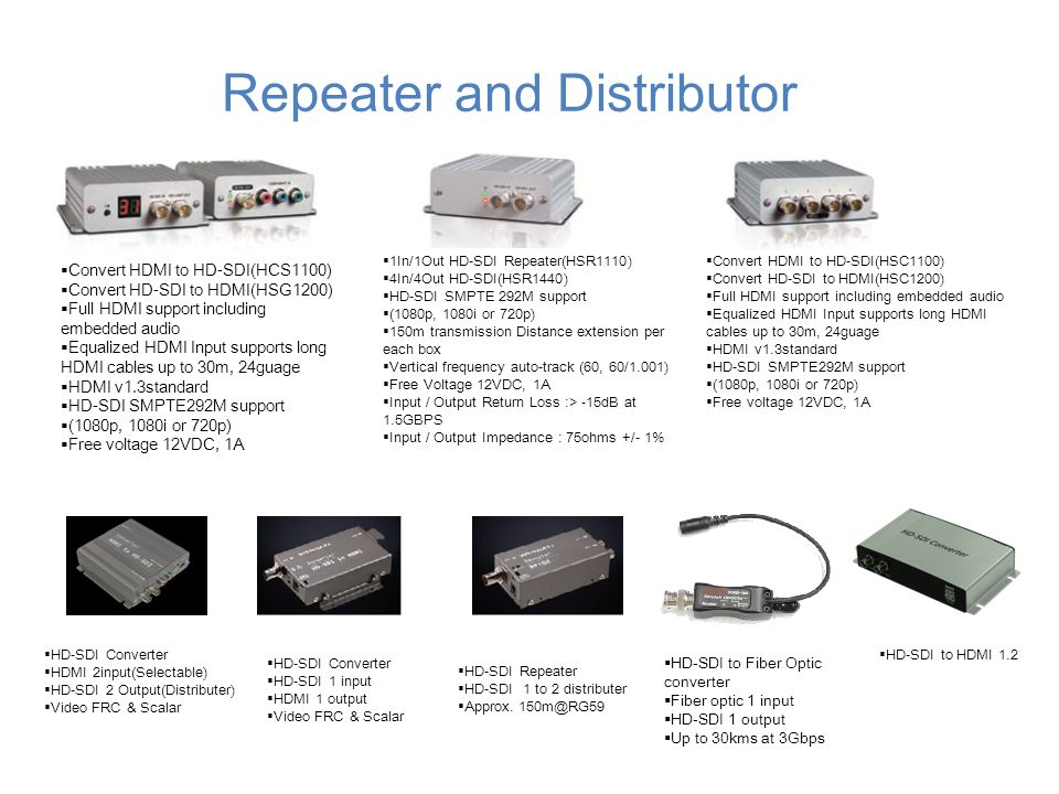 Repeater and Distributor