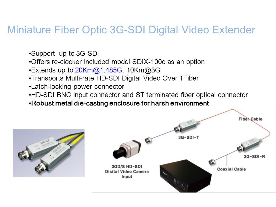 Miniature Fiber Optic 3G-SDI Digital Video Extender
