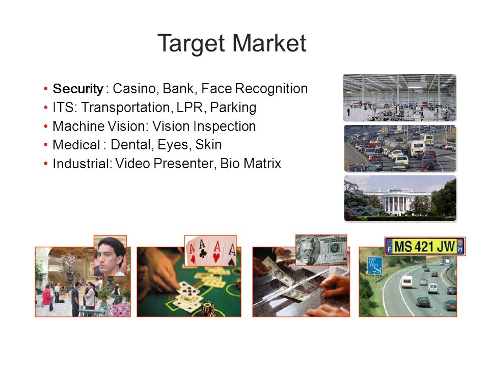 Target Market Security : Casino, Bank, Face Recognition